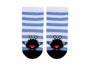 Dětské vzorované ponožky GATTA STRAŠIDLO modré