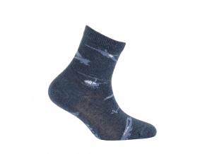 Chlapecké vzorované ponožky GATTA LETADLA modré