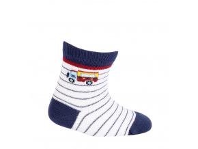Chlapecké vzorované ponožky WOLA NÁKLAĎÁK bílé