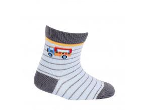 Chlapecké vzorované ponožky WOLA NÁKLAĎÁK světle modré
