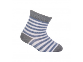 Chlapecké vzorované ponožky WOLA PROUŽKY bílé