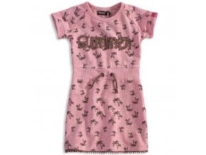 Dívčí šaty DIRKJE PALMY růžové