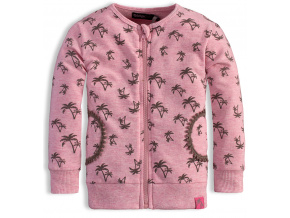 Dívčí rozepínací mikina DIRKJE PALMY růžové