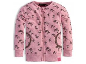 Dětská rozepínací mikina DIRKJE PALMY růžové
