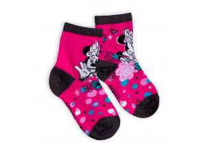 Dětské ponožky DISNEY MINNIE tmavě růžové