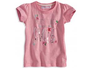 Dívčí tričko s krátkým rukávem Minoti DITSY světle růžové