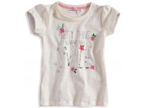 Dívčí tričko s krátkým rukávem Minoti DITSY bílé