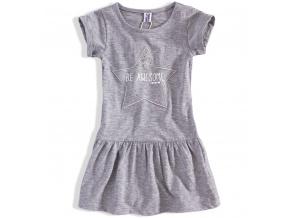 Dívčí šaty PEBBLESTONE AWESOME šedé