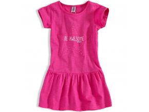 Dívčí šaty PEBBLESTONE AWESOME růžové