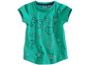 Dívčí tričko PEBBLESTONE DIAMOND zelené