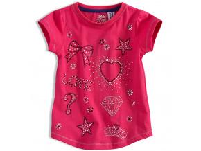 Dívčí tričko PEBBLESTONE DIAMOND růžové
