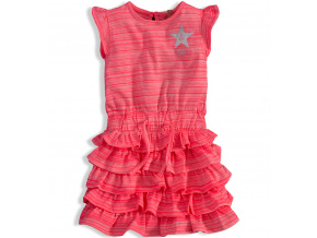 Dívčí letní šaty DIRKJE STYLE ICON růžové