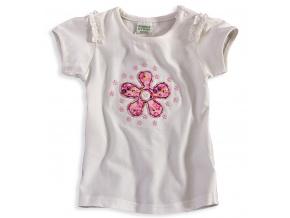 Dívčí tričko PEBBLESTONE KYTIČKA bílé