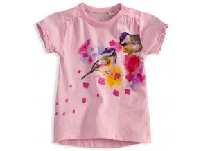 Dívčí tričko KNOT SO BAD BIRDS růžové