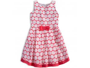 Dívčí šaty KNOT SO BAD DOTS růžové