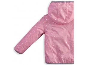 Dívčí jarní bunda KNOT SO BAD STARS růžová