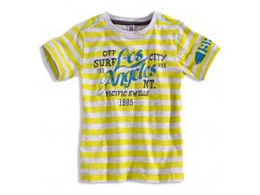 Chlapecké tričko s krátkým rukávem PEBBLESTONE LOS ANGELES žluté
