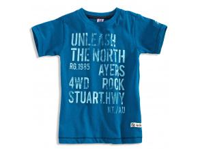 Chlapecké tričko s krátkým rukávem PEBBLESTONE NORTH modré