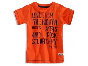 Chlapecké tričko s krátkým rukávem PEBBLESTONE NORTH oranžové