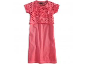 b556dfb818f Dívčí šaty DIRKJE LOVE PINK růžové