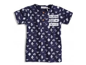 Dětské tričko s krátkým rukávem. DIRKJE YACHTING tmavě modré