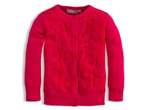 Dívčí svetr KNOT SO BAD LACE tmavě růžový