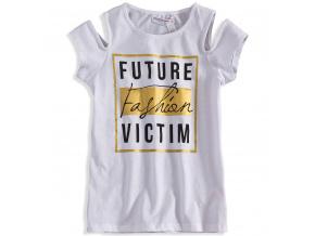 Dívčí tričko s potiskem MINOTI FASHION bílé