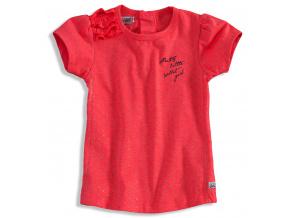 Dívčí tričko krátký rukáv DIRKJE BOLSA růžové