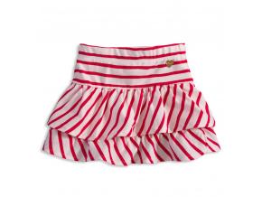 Dívčí bavlněná sukně KNOT SO BAD CUTE červený proužek
