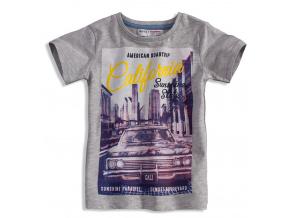 Dětské tričko s krátkým rukávem MINOTI STATE šedé