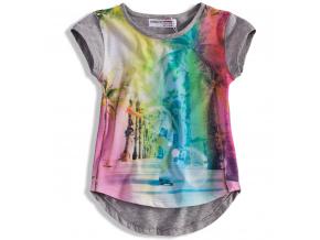 Dívčí tričko MINOTI SUN šedé