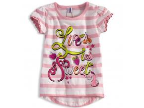 Dívčí tričko PEBBLESTONE SWEET růžové