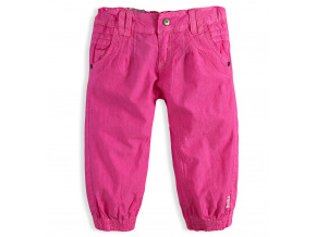 Dívčí plátěné capri kalhoty PEBBLESTONE ORIGINAL GIRLS růžové