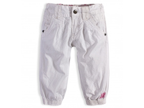 Dívčí plátěné capri kalhoty PEBBLESTONE ORIGINAL GIRLS bílé