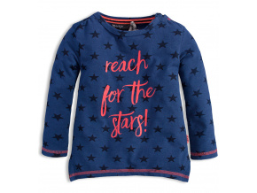 Dívčí triko s dlouhým rukávem DIRKJE STARS modré