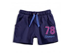 Chlapecké bavlněné šortky KNOT SO BAD GAMERS tmavě modré
