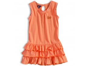 Dívčí šaty bez rukávů PEBBLESTONE SUNNY DAY oranžové