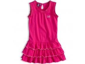 Dívčí šaty bez rukávů PEBBLESTONE SUNNY DAY růžové