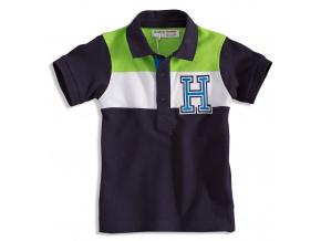 Dětské polo tričko MINOTI GREEN tmavě modré