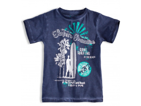 Chlapecké tričko s krátkým rukávem KNOT SO BAD SURFER modré