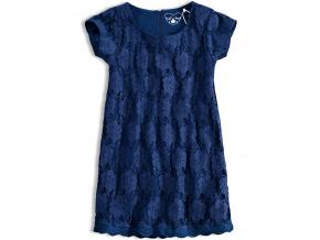 Dívčí krajkové šaty KNOT SO BAD tmavě modré