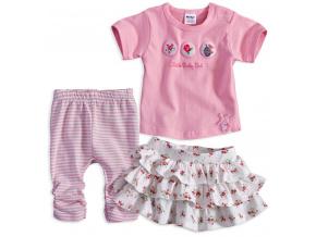 Kojenecká dívčí souprava DIRKJE LITTLE BABY růžová