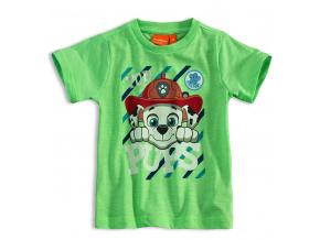 Dětské tričko PAW PATROL MARSHALL zelené