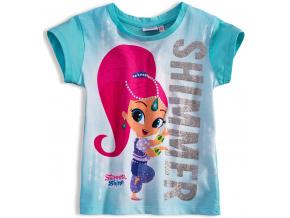 Dívčí tričko SHIMMER & SHINE SHIMMER tyrkysové