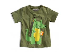 Dětské tričko s krátkým rukávem Mix´nMATCH KROKODÝL zelené