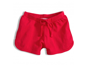 Dívčí bavlněné šortky KNOT SO BAD GIRL červené