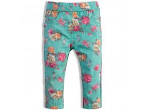 Dívčí kalhoty KNOT SO BAD KYTIČKY zelené