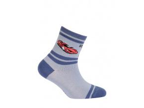 Chlapecké ponožky GATTA ZÁVODNÍ AUTO modré