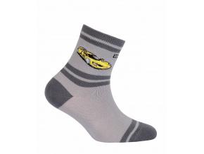 Chlapecké ponožky GATTA ZÁVODNÍ AUTO šedé