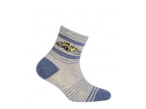 Chlapecké vzorované ponožky GATTA BULDOZER šedé